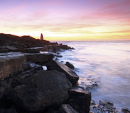 Sonnenaufgang auf Portland in Dorset lizenzfreies stockfoto