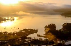 Sonnenaufgang auf Windermere Lizenzfreie Stockbilder