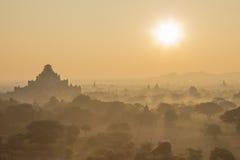 Sonnenaufgang in bagan Lizenzfreies Stockbild