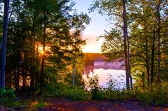 Sonnenaufgang; Bancroft, Kanada lizenzfreie stockfotografie