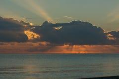 Sonnenaufgang in Bastia Lizenzfreies Stockbild