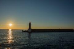 Sonnenaufgang in Bastia Stockbilder
