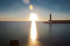Sonnenaufgang in Bastia Lizenzfreie Stockfotos