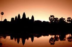 Sonnenaufgang bei Angkor Wat Lizenzfreies Stockbild