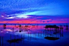 Sonnenaufgang bei baan Pak Pra Thailand Lizenzfreies Stockfoto