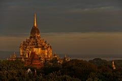 Sonnenaufgang bei Bagan Stockbilder