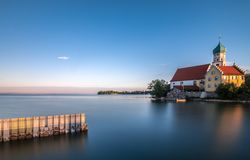 Sonnenaufgang bei Bodensee Lizenzfreies Stockbild