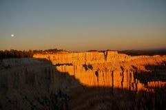 Sonnenaufgang bei Bryce Canyon, Utah stockfotografie