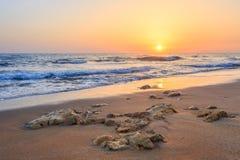 Sonnenaufgang bei Chersonisos Stockfoto
