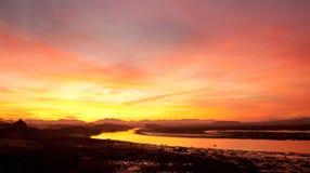 Sonnenaufgang bei der vier Meilen-Brücke Stockfotos