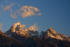 Sonnenaufgang bei großartigem Teton stockfotografie