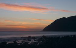 Sonnenaufgang bei Lynmouth Stockfoto