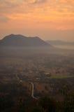 Sonnenaufgang bei Phu Tok Stockbilder