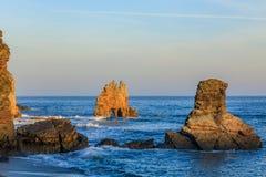 Sonnenaufgang bei Playa de Portizuelo lizenzfreie stockbilder