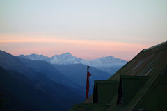 Sonnenaufgang bei Rakcham Stockfotos