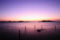 Sonnenaufgang bei Sattahip, Thailand Stockfoto