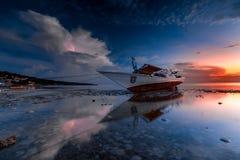 Sonnenaufgang bei Tanjung Bira Bulukumba Lizenzfreies Stockfoto