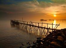 Sonnenaufgang bei Tanjung Kait Stockfoto