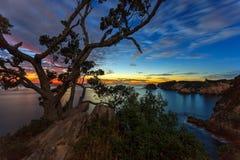 Sonnenaufgang bei Te Pare Point Lizenzfreie Stockbilder