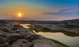 Sonnenaufgang bei Thailand Stockbild