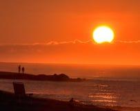 Sonnenaufgang-Beobachter Stockbilder