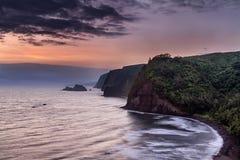 Sonnenaufgang über Pololu-Tal Stockfotografie