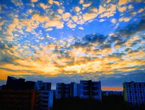 Sonnenaufgang in Berlin stockbilder