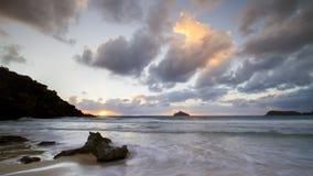Sonnenaufgang Blinkys Strand Stockfotos
