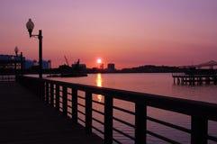 Sonnenaufgang Boston lizenzfreie stockbilder