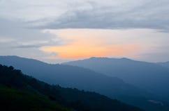 Sonnenaufgang an Broga-Hügel, Malaysia Stockfotografie