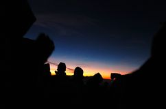 Sonnenaufgang am bromo lizenzfreies stockfoto