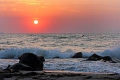 Sonnenaufgang in Bulgarien Stockfotos