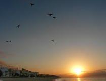 Sonnenaufgang in Canet De Mrz Lizenzfreies Stockfoto