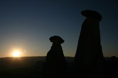 Sonnenaufgang cappadoccia lizenzfreies stockbild