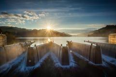 Sonnenaufgang-Carp See-Reservoir Stockfoto