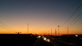 Sonnenaufgang in Ciudad Juarez, Chih Lizenzfreies Stockbild