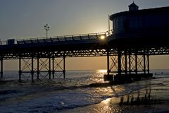 Sonnenaufgang, Cromer Pier Lizenzfreie Stockfotografie