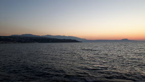 Sonnenaufgang in dem Ozean Stockfotos