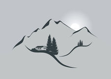 Sonnenaufgang in den Alpen lizenzfreie abbildung