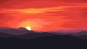 Sonnenaufgang in den Bergen Lizenzfreies Stockbild