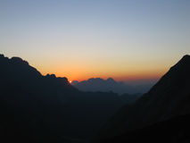 Sonnenaufgang in den Dolomit lizenzfreies stockbild