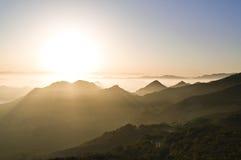 Sonnenaufgang in den Schluchten lizenzfreie stockfotos