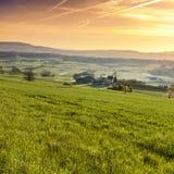 Sonnenaufgang in den Schweizer Alpen Lizenzfreie Stockbilder