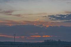 Sonnenaufgang in den Wolken Stockfotografie