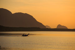 Sonnenaufgang an der Bucht Stockbilder