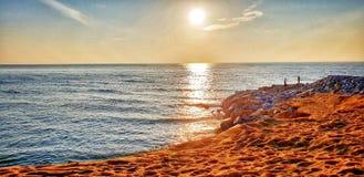 Sonnenaufgang an der Bucht lizenzfreies stockfoto