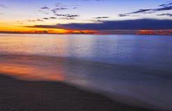Sonnenaufgang an der Costa Rei in Sardinien Lizenzfreie Stockbilder