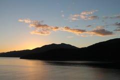 Sonnenaufgang an der Königin Charlotte Sound Lizenzfreies Stockbild