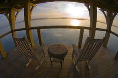 Sonnenaufgang an der Palmetto-Täuschung Lizenzfreie Stockbilder