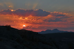 Sonnenaufgang in der Sierra de Bejar Lizenzfreies Stockbild